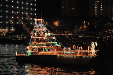 image of boat in parade on the Intracoastal Waterway