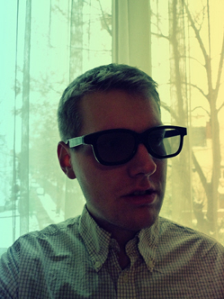 image of guy wearing 3D glasses