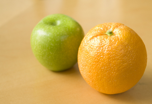 image of apple and orange