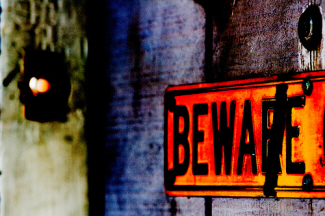 image of Beware! sign