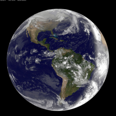Image of planet Earth from space