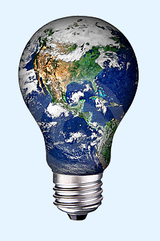 image of earth llightbulb