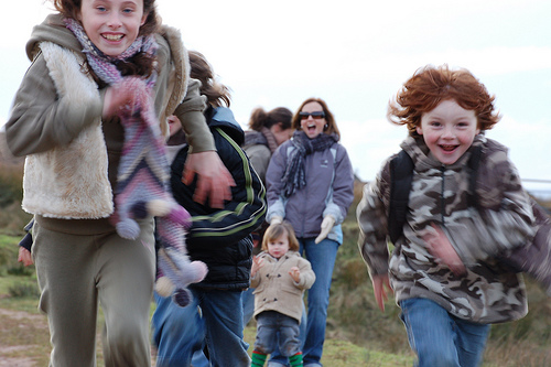 Image of Children racing in Scotland