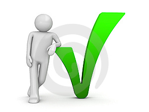picture of grey figure and green checkmark