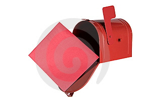 picture of red mailbox
