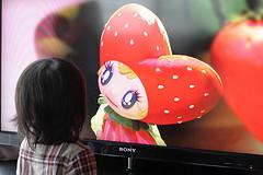 image of SAKURAKO watching HDTV