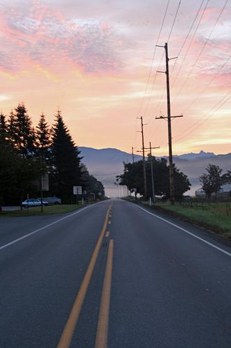 image of Sunrise on the road