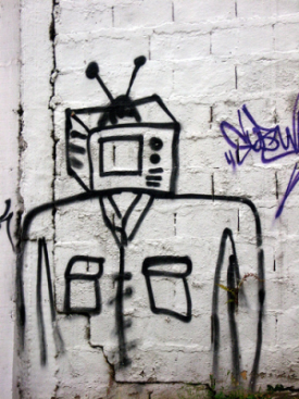 image of TV robot