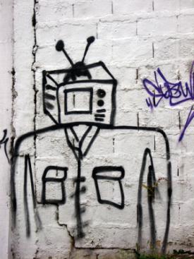 image of TV robot
