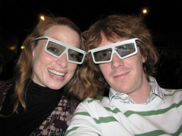 image of couple wearing 3D glasses