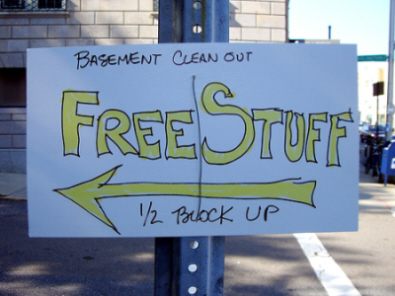 image of FREE sign