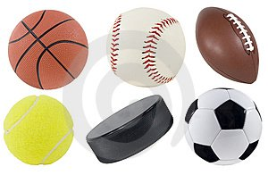 picture of various balls used in sports