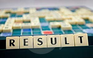 picture of the word result spelled out